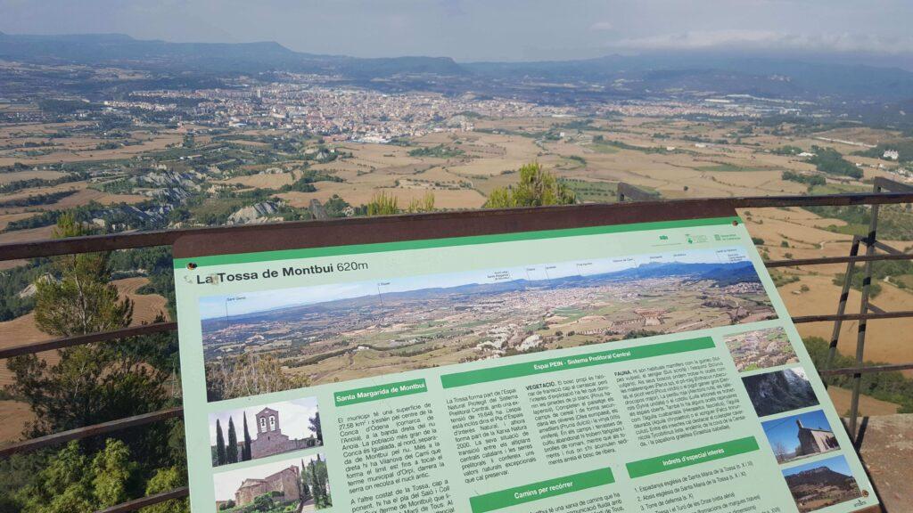 Vista de la Conca d'Òdena.